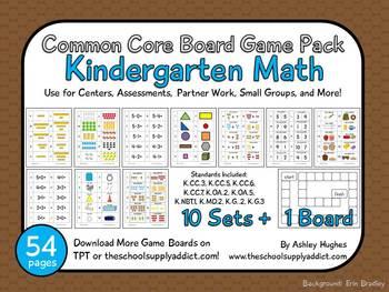 math worksheet : common core board game pack kindergarten math a hughes design  : Math Board Games Kindergarten
