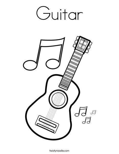 Guitar Coloring Page Music Coloring School Coloring Pages Coloring Pages