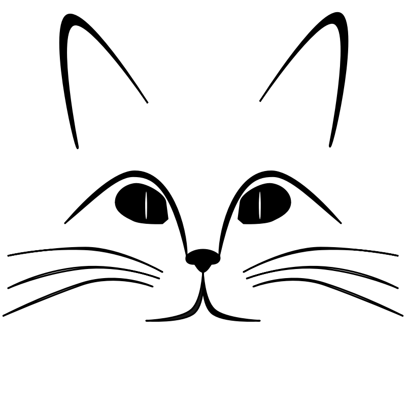 Clipart Cat Face Outline Cat Face Cat Vector Face Outline