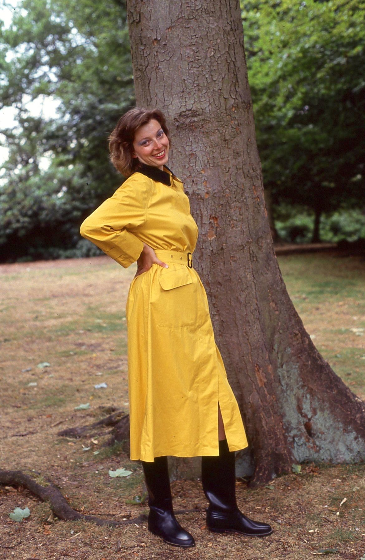 Yellow rubber lined mackintosh | raincoats | Rubber