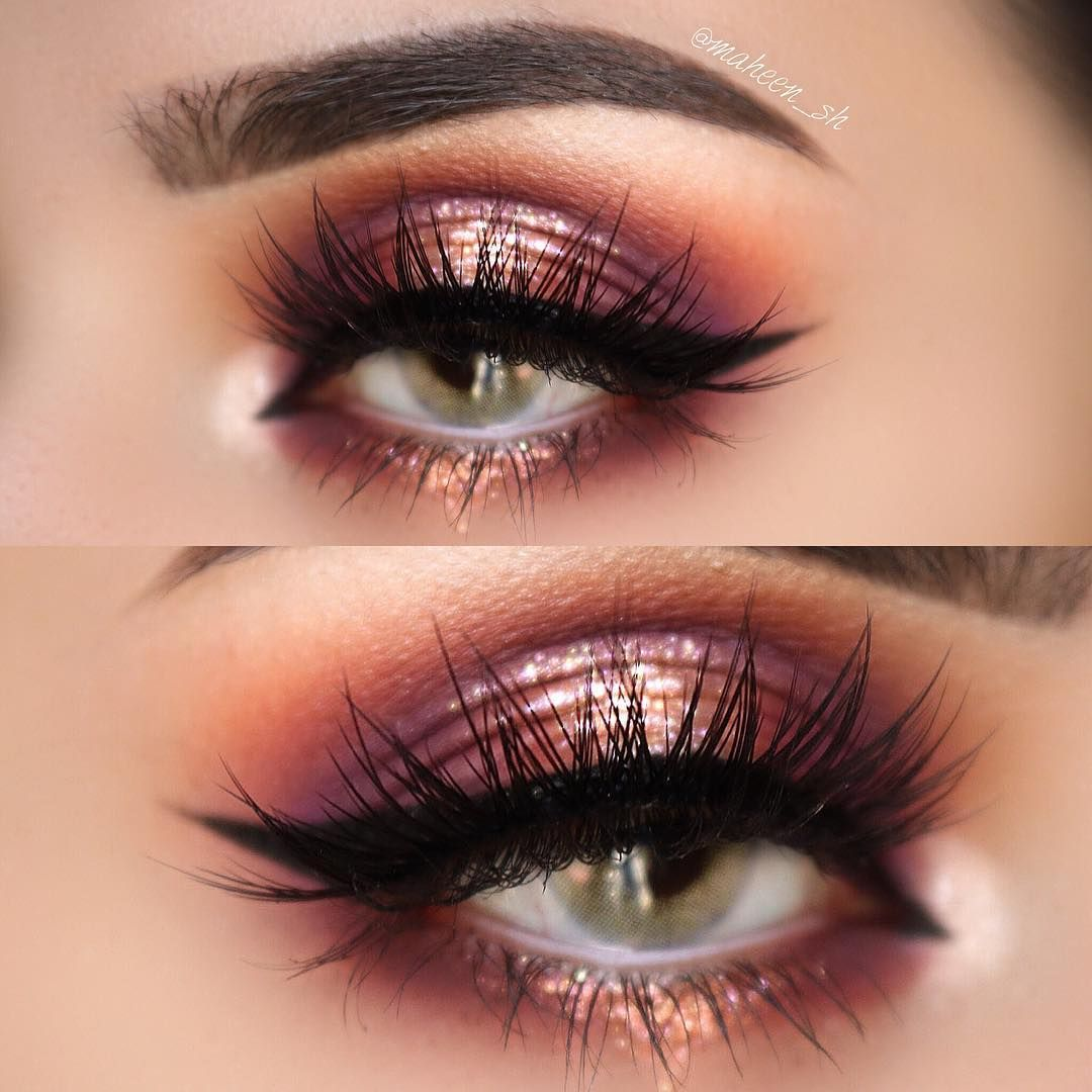 Copper, rose gold, halo eye makeup Halo eye makeup, Rose