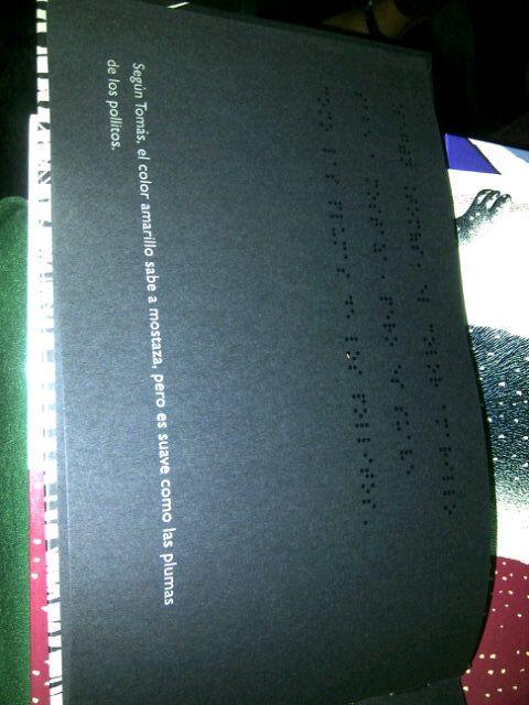 El libro negro de los colores de M. Cottin en Braille. | Design ...