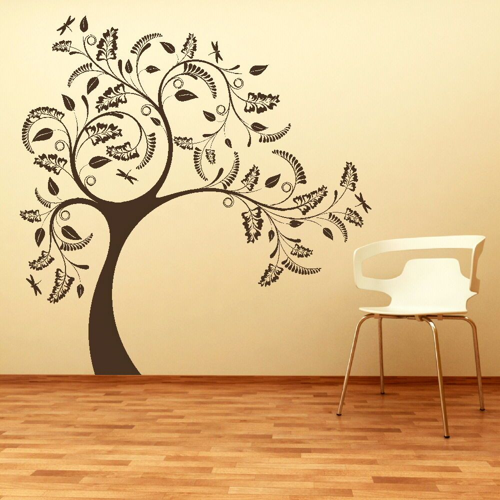large tree giant wall sticker huge removable vinyl decal stencil ...
