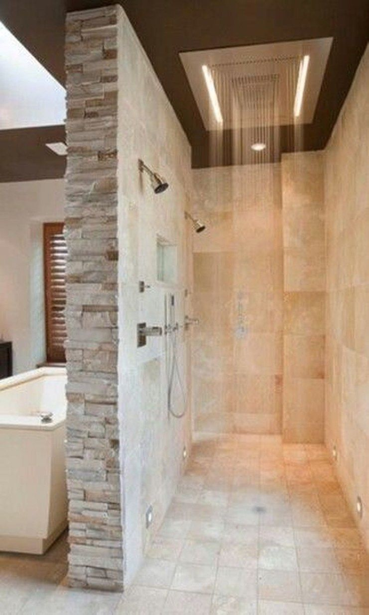 44 Beautiful Bathroom Shower Remodel Ideas images