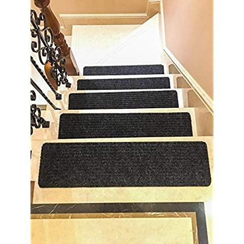 Best Stair Treads Black Thick And Soft Slip Resistant Carpet 640 x 480
