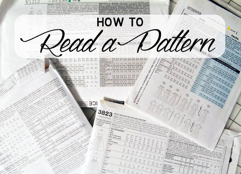 All the symbols and lines on a pattern can be overwhelming. Here's a guide to help you learn to read a pattern and avoid some of that confusion!