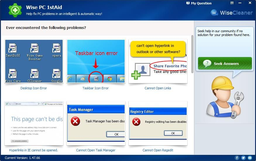 Wise PC 1stAid Automatically Fix Windows 10 PC Problems