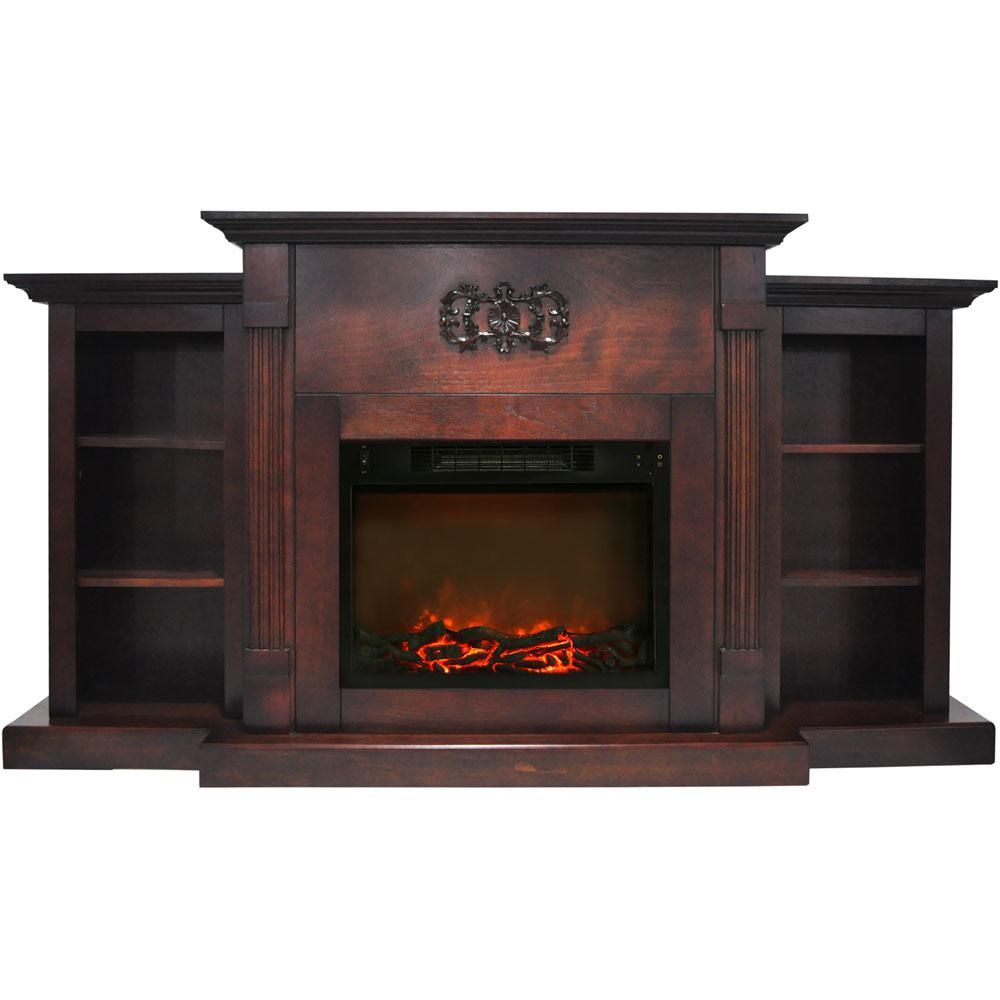 Cambridge Sanoma 72 In Electric Fireplace In Mahogany With Built