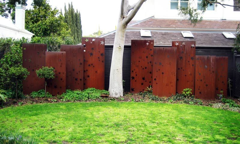 Metal Privacy Screen corten steel fence panels feature in corten steel | aa metal