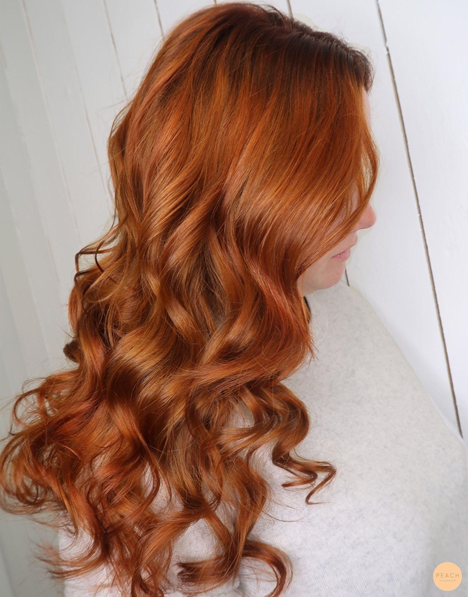 koppar orange hårfärg