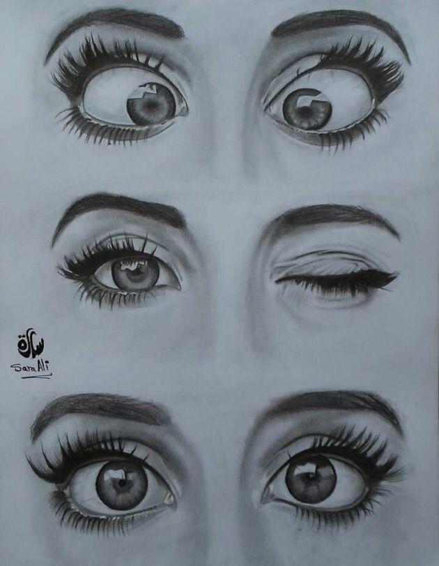 رسم عيون سارة علي Eyeball Art Art Drawings Sketches Creative Art Drawings Simple