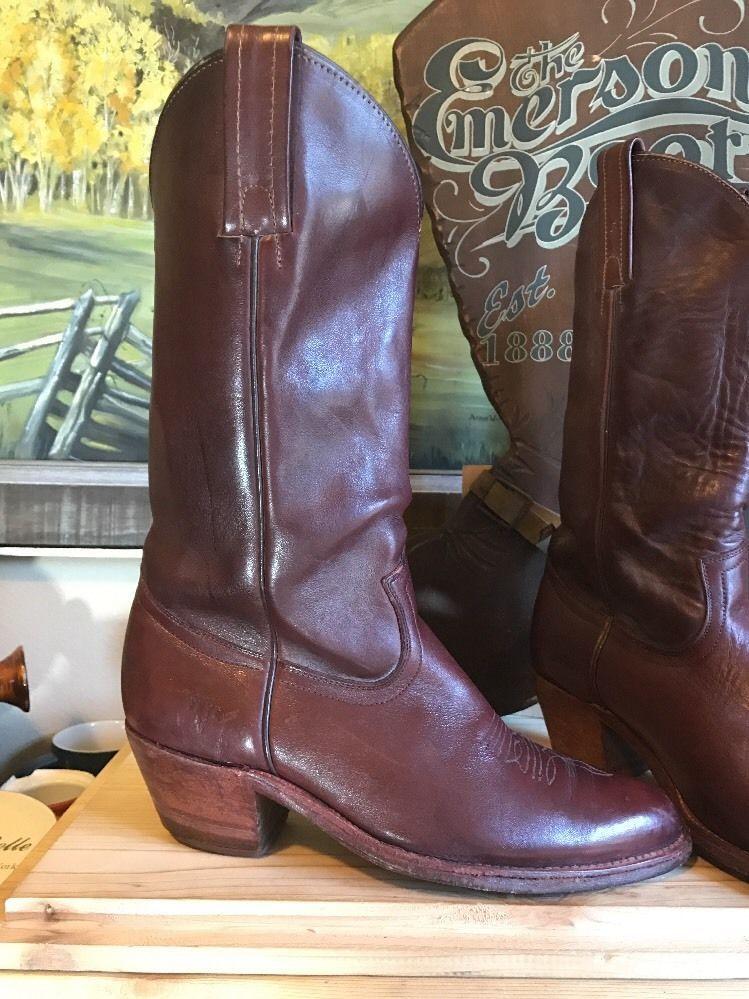 bcea390011bb8 MEN'S FRYE SIZE 9 1/2 D 2350 Oxblood COWBOY BOOTS Western | eBay ...