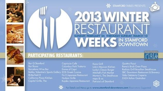 We Are Honored To Be Part Of Winter Restaurant Week In Stamford
