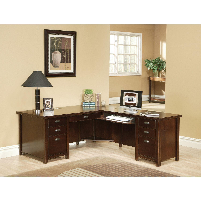 Cherry Custom Home Office Desk Throughout Home Office Desk Furniture Ideas For Custom