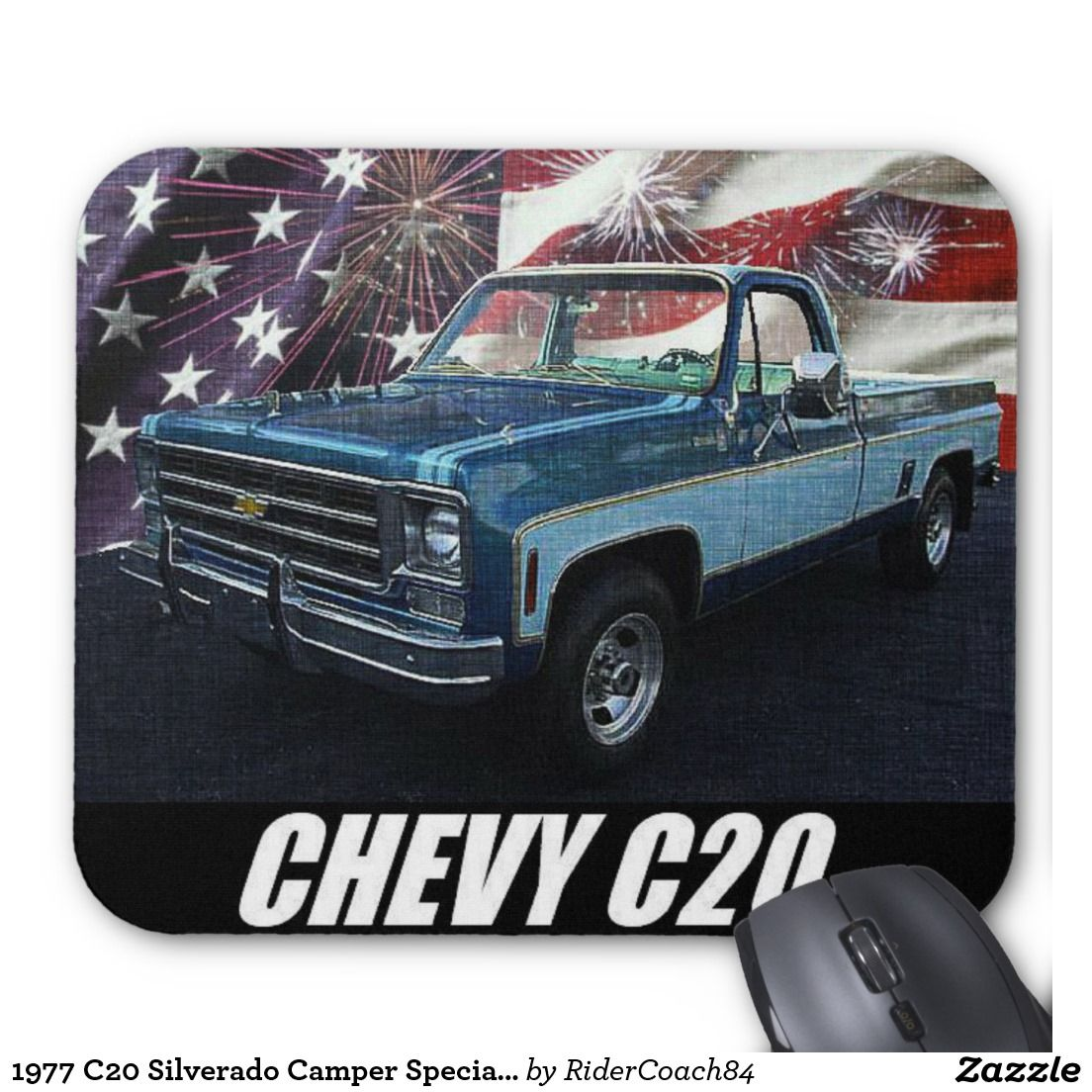 1977 c20 silverado camper special crew cab mouse pad