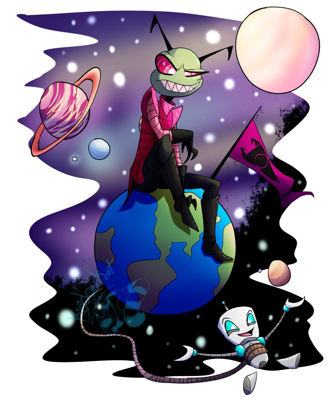 Image by Leah Lytle on Invader zim Anime, Character