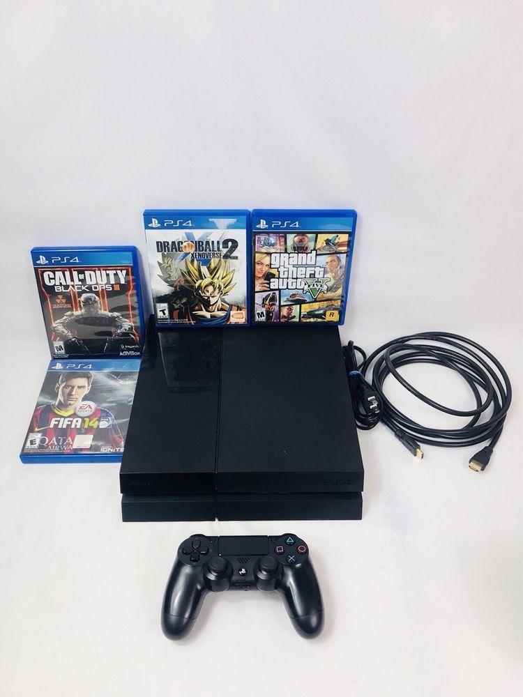 Sony PlayStation 4 500GB PS4 Console Bundle, GTA V, Dragonball