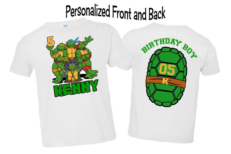 Ninja Turtle Boys Birthday Shirt By Aimtopleasecreations On Etsy 16 15 Ninja Turtles Birthday Party Tmnt Birthday Teenage Mutant Ninja Turtle Birthday