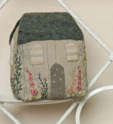 Cute hand embroidered cottage