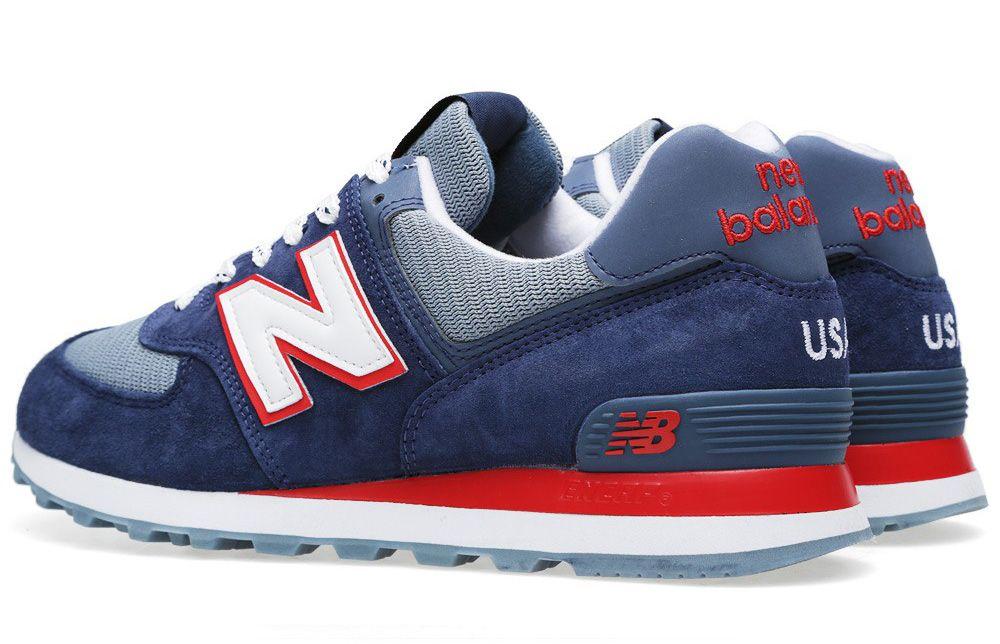 new balance 574 blu navy/grey