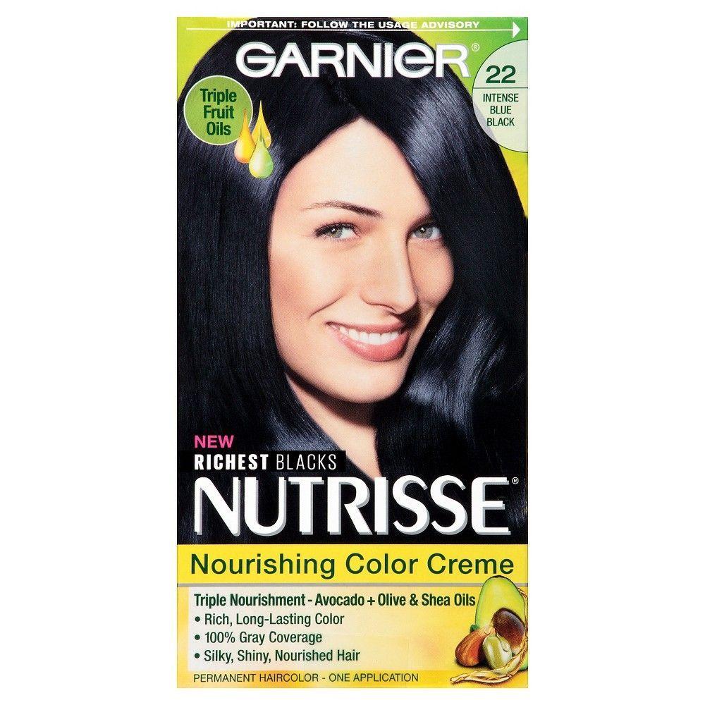 Garnier Nutrisse Nourishing Color Creme 22 Intense Blue Black