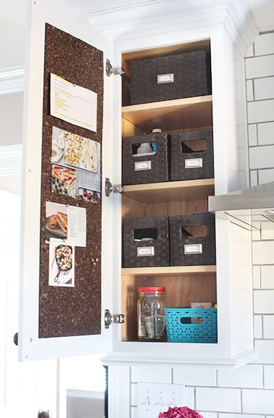 Line The Inside Of A Kitchen Cabinet With Cork To Turn The Ordinary