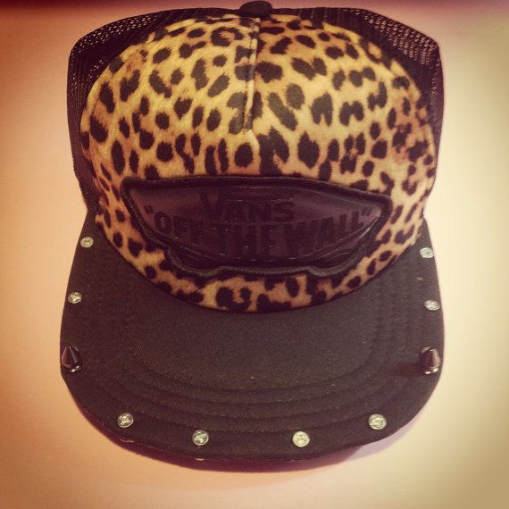 (3) Spiked Out Cheetah Trucker on Wanelo
