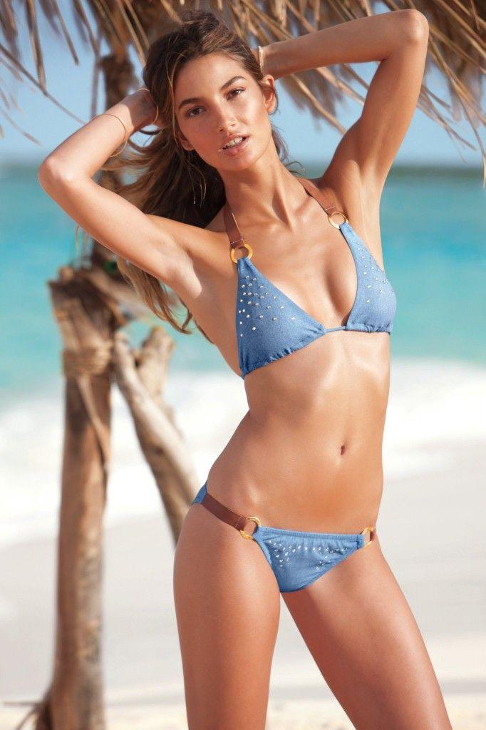 American model Lily Aldridge   Bikinis, Supermodels, Swimwear