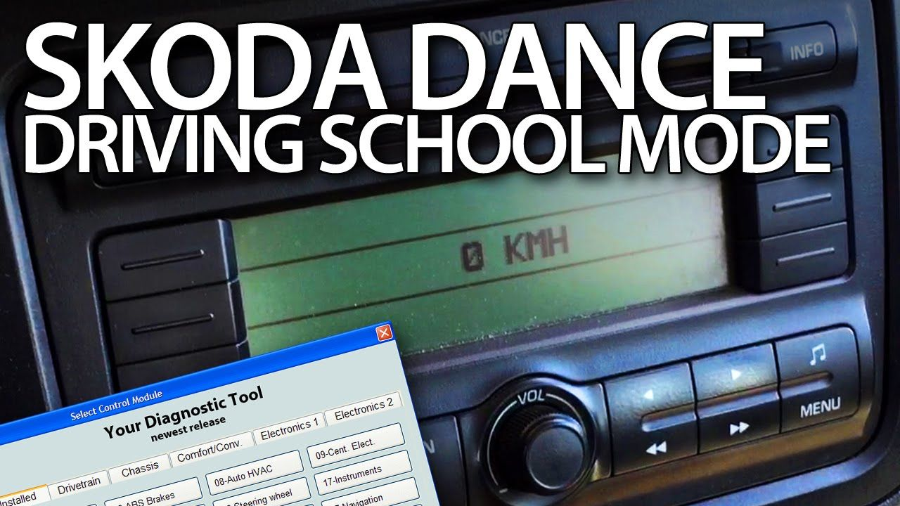 How to enable driving school mode in #Skoda #Dance radio