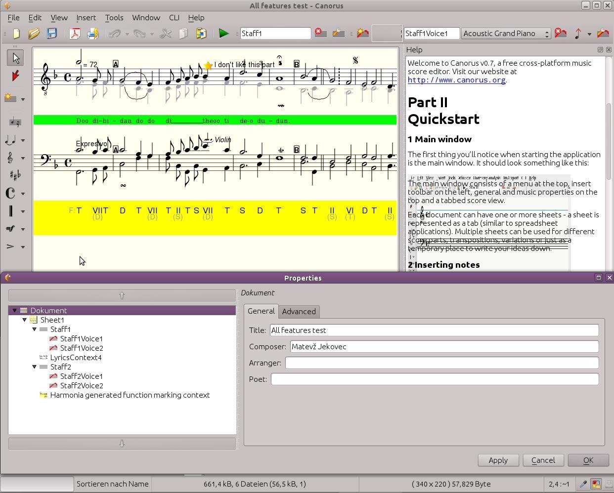 Canorus – a music score editor June 2014 Download Full