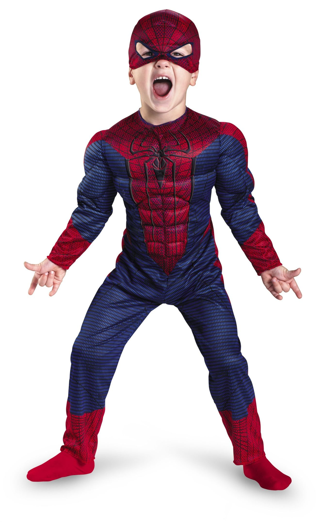 Spiderman Kids Costume from the Movie Amazing Spiderman. Superhero Costume for Kids.  sc 1 st  Pinterest & Amazing Spiderman Muscle Boys Costume | Spiderman and Costumes