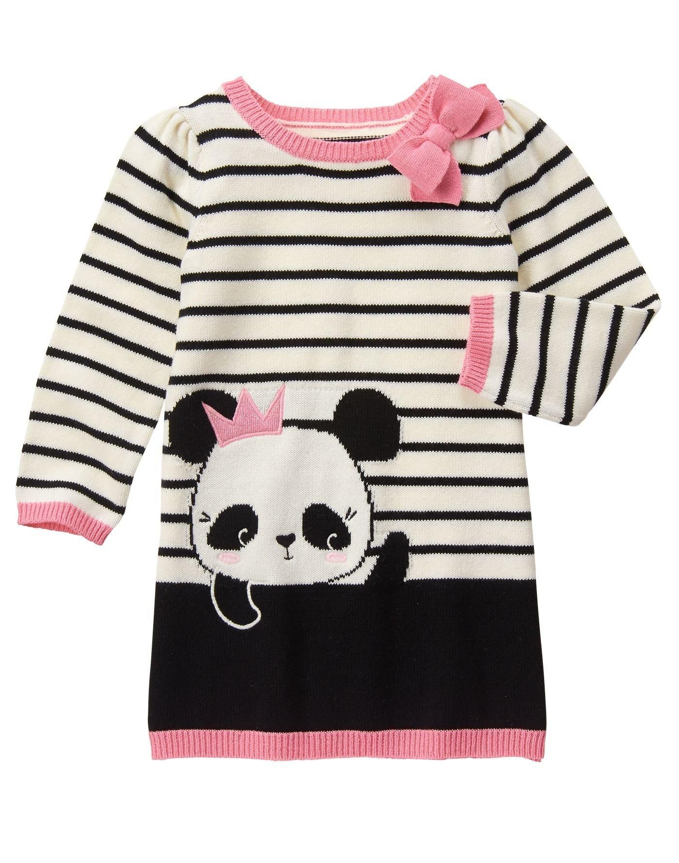 059f0f4d252 Panda Sweater Dress   Fall 2016   Dresses, Sweaters, Toddler sweater