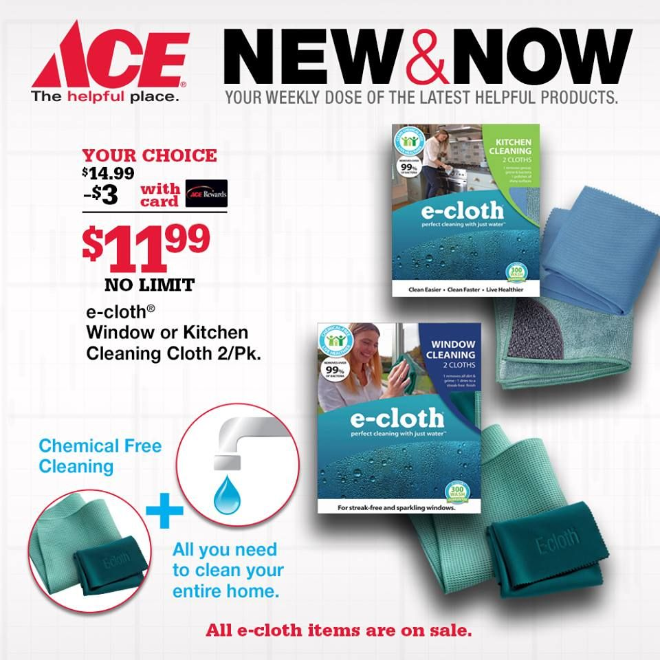 new at ace e cloth choose a chemical free way of cleaning flyers