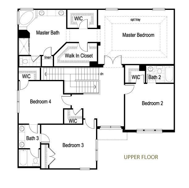 Dunberry 2 Story Upper Floor Plan Idées pour la maison, Pour la