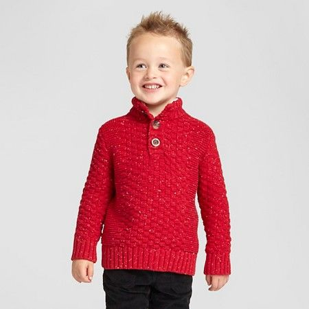 Toddler Boys' Pullover Sweater- Red Velvet - Cat & Jack™ : Target ...