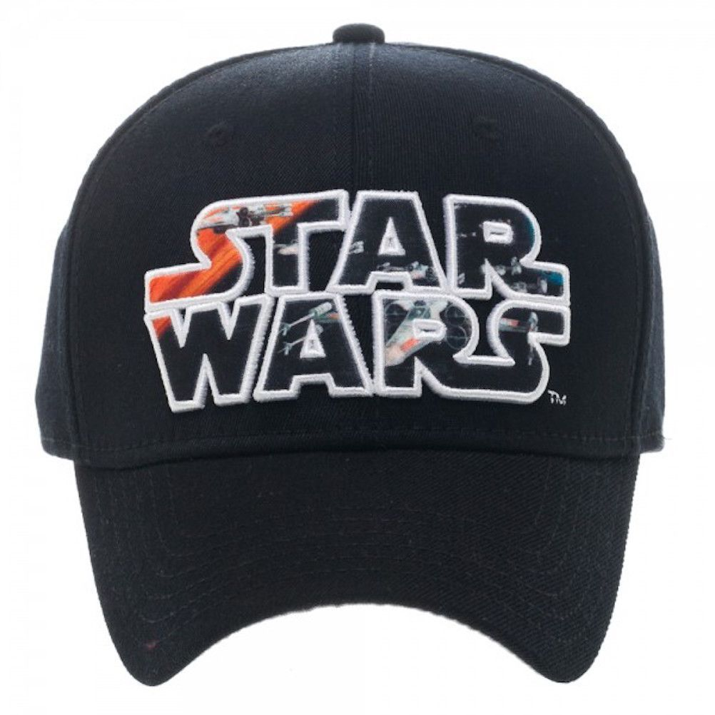 ea7bd98300e STAR WARS X-WING WITHIN EMBOSSED STAR WARS LOGO BASEBALL CAP HAT One size  fits most teens and adults FlexFit Innerband Made of Spandex