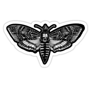 Todeskopf Motte Schweigen Der Lammer Sticker Von Bagchemistry In 2020 Das Schweigen Der Lammer Schweigen Edgar Allen Poe