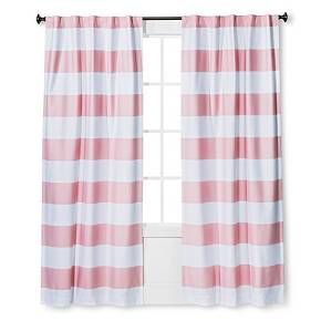Twill Light Blocking Curtain Panel Stripe Pillowfort