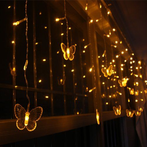 Weanas® Solar Power String Fairy Lights 60 Butterfly Style LEDs Warm