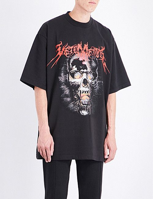 efa8c976 VETEMENTS Heavy Metal cotton-jersey T-shirt | Graphic T-shirts in ...