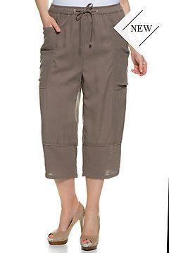 Lyocell Seamed Crop Pants