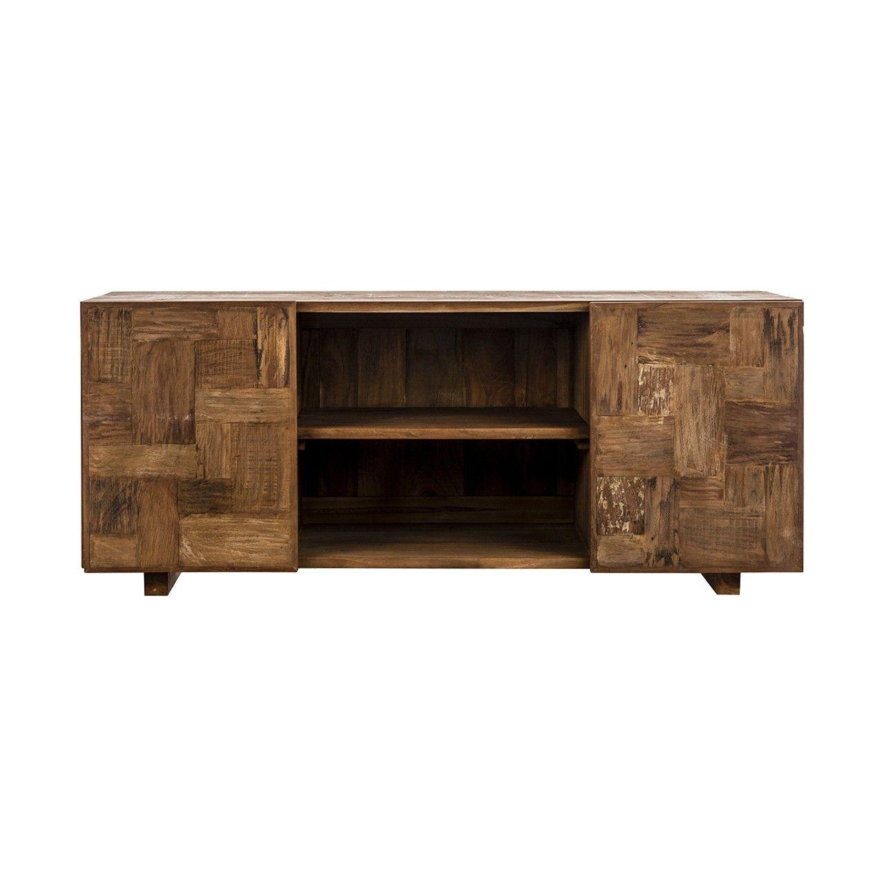 Mueble tv en #madera de teka #color #marrón | MUEBLES TV | Pinterest ...