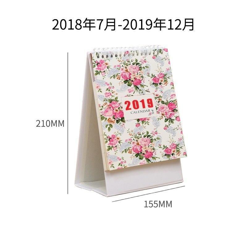 Calendars, Planners & Cards 2019 Cute Flower Series Diy Table Desk Calendar Agenda Organizer Daily Schedule Planner 2018.07~2019.12