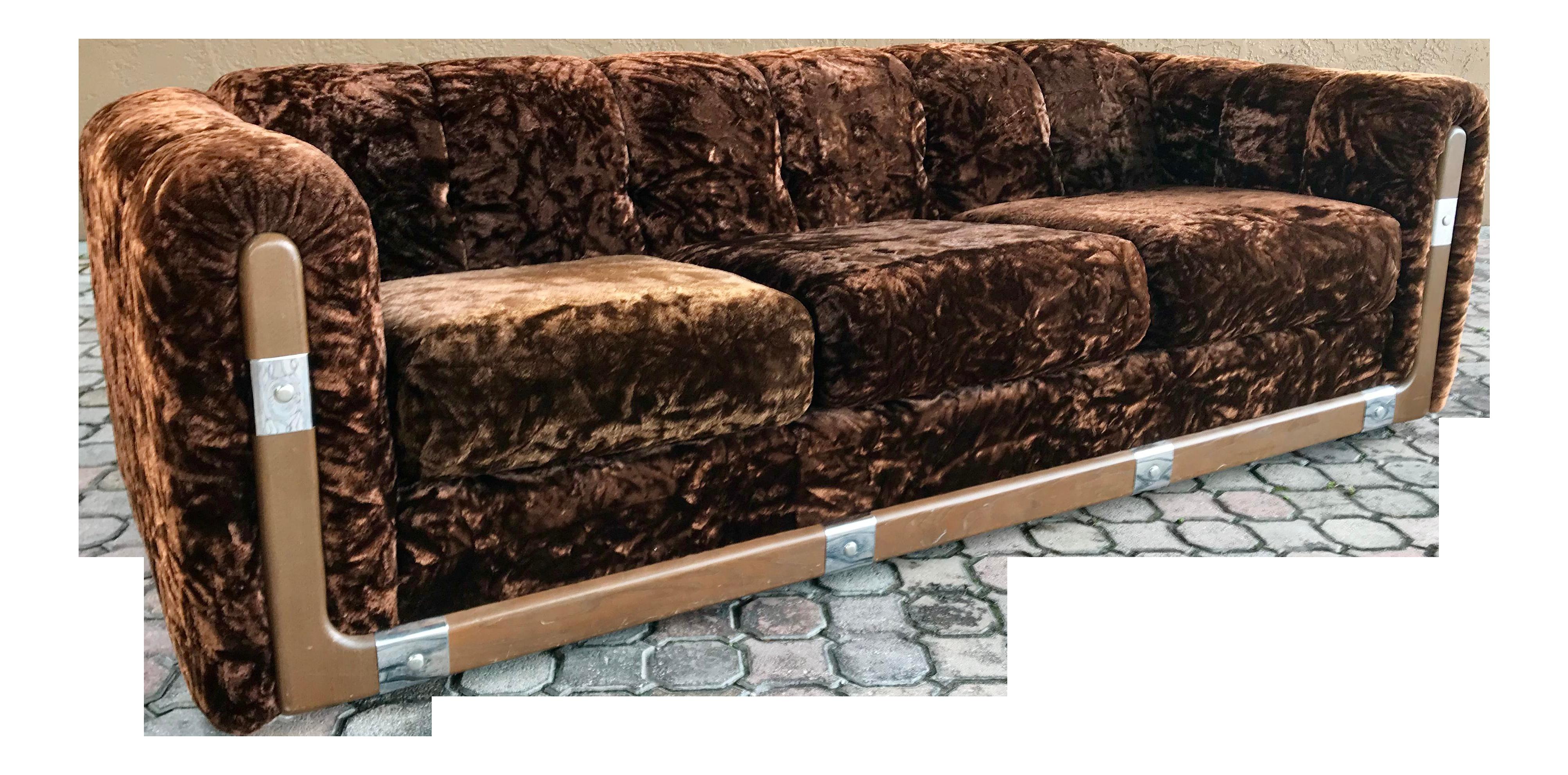 Best 70 S Crushed Brown Velvet Sofa Velvet Sofa Sofa 400 x 300