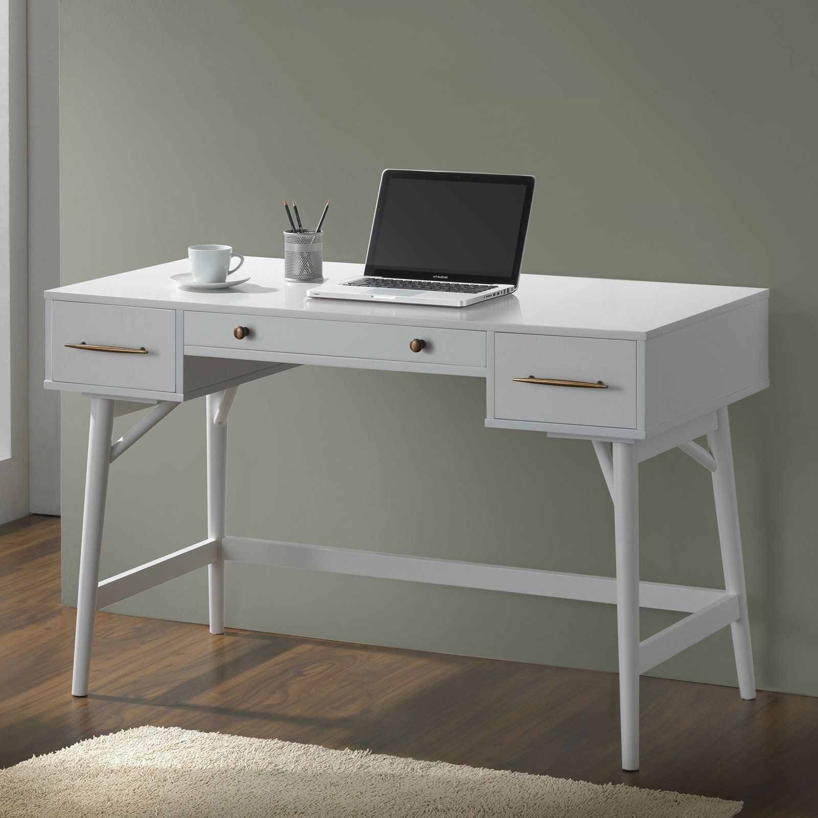 Coaster Furniture Walnut Writing Desk White Writing Desk Modern