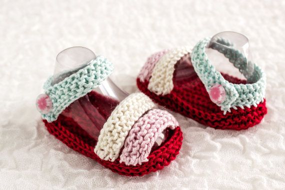 KNITTING PATTERN, Baby Sandals Pattern, Summer Booties Pattern, Two ...