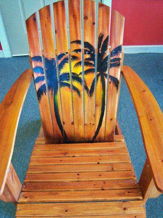 adirondack chairs on beach sunset. Plain Chairs Hand Painted Sunset Adirondack Chair Sunset 19900 Via Etsy Throughout Chairs On Beach