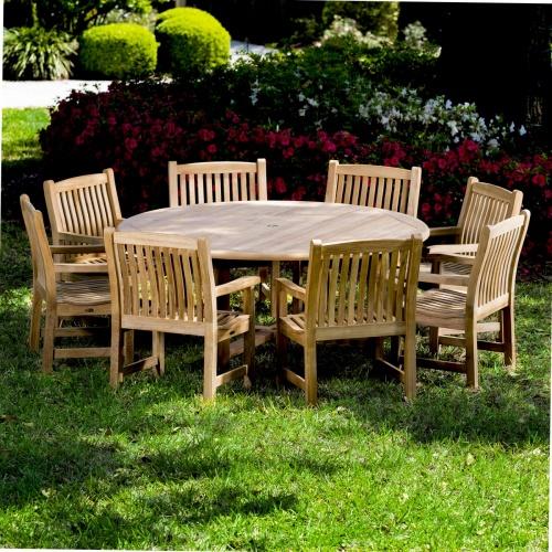 9 Pc Buckingham Veranda Teak Dining Set Westminster Teak Teak Outdoor Furniture Teak Dining Chairs