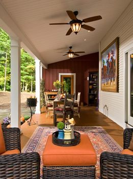 Outdoor Ceiling Fans House With Porch Screened Porch Decorating