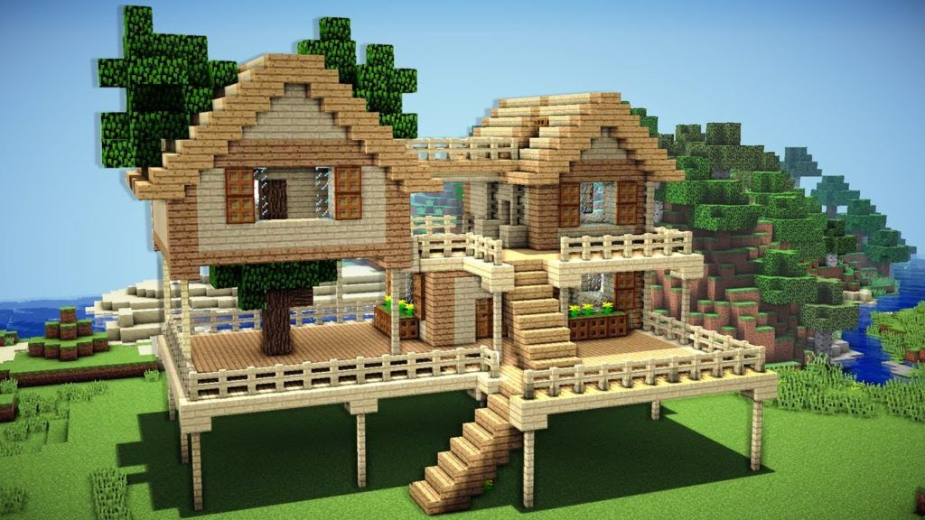 Minecraft How to Make a Wooden House Tutorial Thumbs up